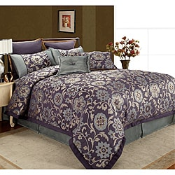 Rachel 'Midnight Hour' 8-piece Queen Comforter Set