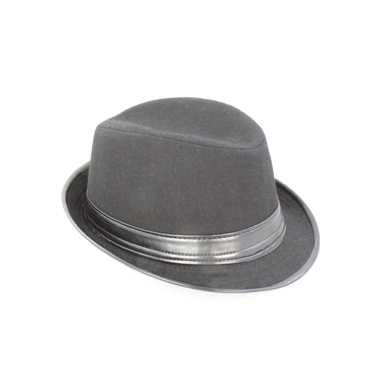 Faddism Men's Black Fedora Hat