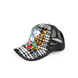 Faddism Unisex Black Skull and Leopard Baseball Cap