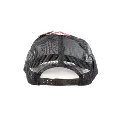 Faddism Unisex Black Red Square Design Baseball Cap