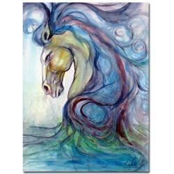 Osay 'Caballo Azul' Canvas Art