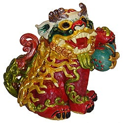 Cristiani Chinese Lion Trinket Box with Austrian Crystals