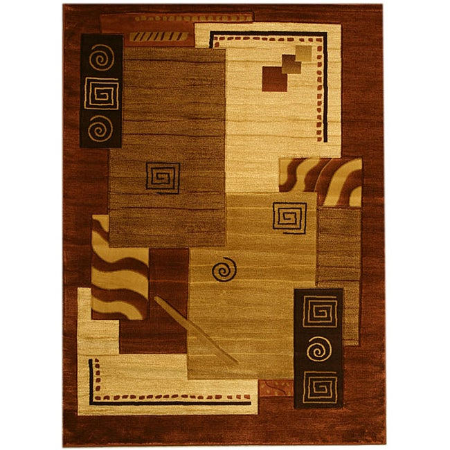 Hand-carved Paloma Brown Rug (5' x 8')