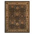 Hand-tufted Morris Brown Wool Rug (8' x 10')