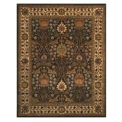 Hand-tufted Morris Brown Wool Rug (6' x 9')