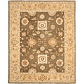Hand-made Farahan Brown/ Taupe Hand-spun Wool Rug (9'6 x 13'6)