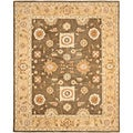Hand-made Farahan Brown/ Taupe Hand-spun Wool Rug (6' x 9')
