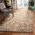 Safavieh Hand-made Ancestry Dark Grey/ Brown Hand-spun Wool Rug (6' x 9')