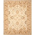 Safavieh Hand-made Silver/ Light Brown Hand-spun Wool Rug (4' x 6')