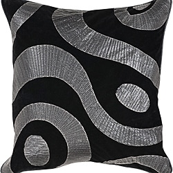 Dire 18-inch Square Down Decorative Pillow