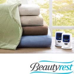 Beautyrest Ribbed Microfleece Twin-size Heated Blanket
