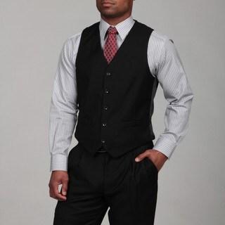 Dockers Men's Black Wool Blend Suit Separates Vest
