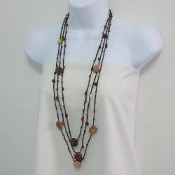 Serenity Jasper Cross Faith Stone Layered Necklace (Thailand)