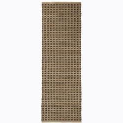 "Handwoven Mandara Cotton/Jute Rug (2'6"" x 7'6"")"