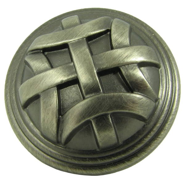 Stone Mill Hardware Cross Flory Weathered Nickel Cabinet Knobs (Pack of 5)