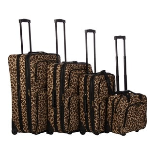 American Trunk and Case Voyager Leopard 4-piece Luggage Set