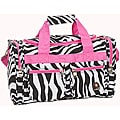 Rockland 'Bel-Air' Pink Zebra 19-inch Carry-On Tote/Duffel Bag
