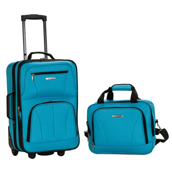 Rockland Turquoise Lightweight 2-Piece Carry-On Luggage Set