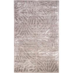 Candice Olson Hand-tufted Beige Zebra Animal Print Redfield Wool Rug (5' x 8')