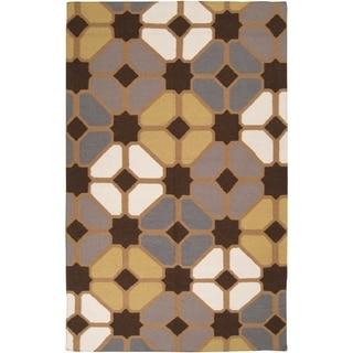Hand-woven Groton Wool Rug (5' x 8')