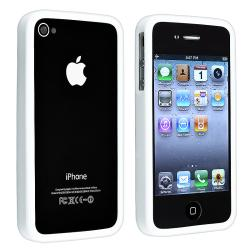 Solid White TPU Rubber Skin Bumper Case for Apple iPhone 4/ 4S