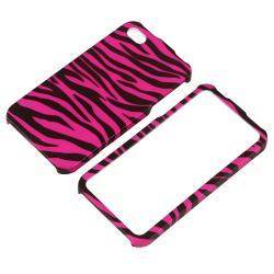 Hot Pink/ Black Zebra Snap-on Case for Apple iPhone 4