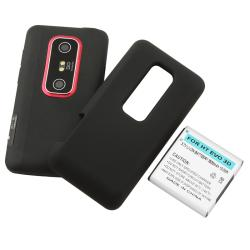Compatible Extended Li-ion Battery with Cover for HTC EVO 3D