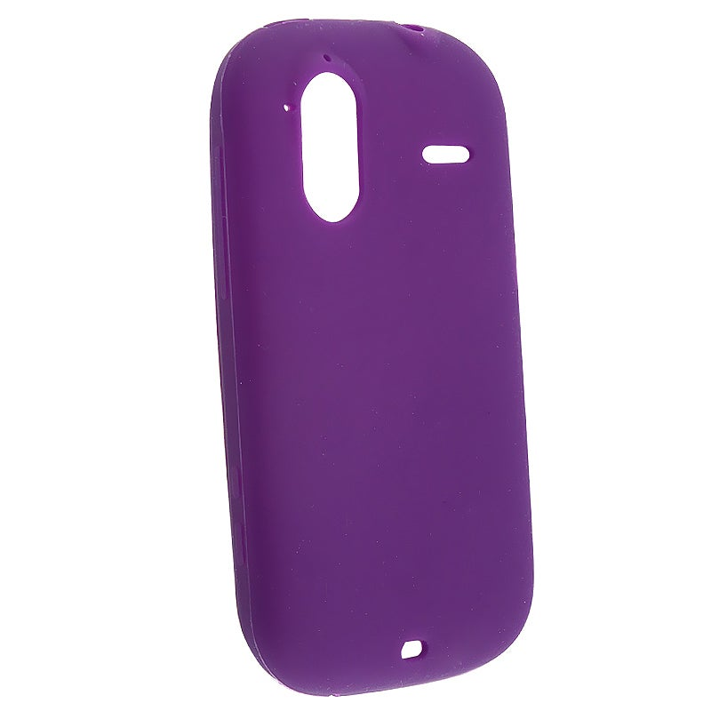 INSTEN Purple Soft Silicone Skin Phone Case Cover for HTC Amaze 4G