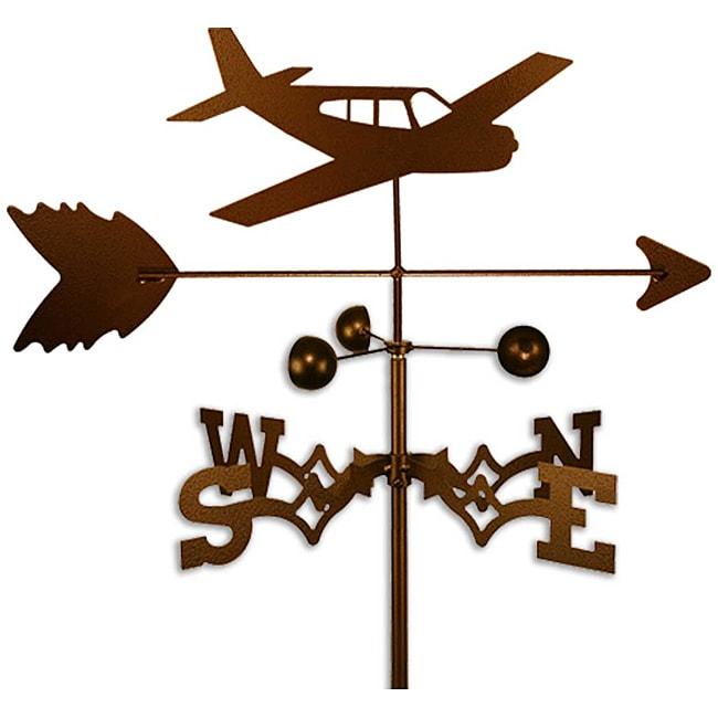 Coppertone Steel Airplane Weathervane