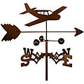 Coppertone Steel Airplane Weathervane