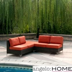 angelo:HOME Napa Springs Red Tulip 3 Piece Indoor/Outdoor Wicker Furniture Set