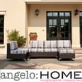 angelo:HOME Napa Springs Newport Stripe 4 Piece Indoor/Outdoor Wicker Furniture Set