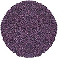 Hand-tied 'Pelle' Purple Leather Shag Rug (8' x 8')