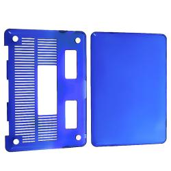 Clear Dark Blue Snap-on Case for Apple MacBook Pro