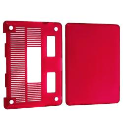 Clear Red Snap-on Case for Apple MacBook Pro