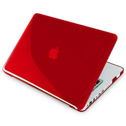 INSTEN Clear Red Snap-on Laptop Case Cover for Apple MacBook Pro