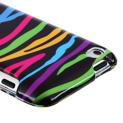 INSTEN Black/ Colorful Zebra Snap-on iPod Case Cover for Apple iPod Touch 4th Gen