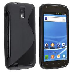 Black S Shape TPU Rubber Skin Case for T-Mobile Samsung Galaxy S2 T989