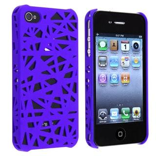 Dark Blue Bird Nest Snap-on Case for Apple iPhone 4/ 4S