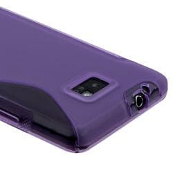 Dark Purple S Shape TPU Rubber Case for Samsung Galaxy S2 AT&T i777
