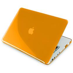Clear Orange Snap-on Case for Apple MacBook Pro