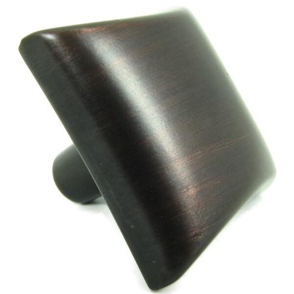 Stone Mill Hardware Oil-Rubbed Bronze Bella Square Cabinet Knob