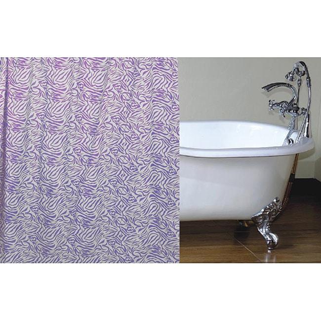 Purple Zebra Shower Curtain