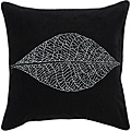 Decorative Square Mink Large Black/Silver Down Pillow
