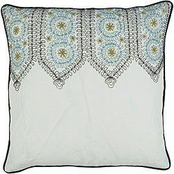 Decorative Square Pazz Large White/Teal Pillow