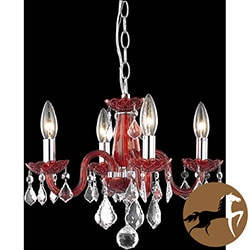 Christopher Knight Home Crystal Lattice Rose 4-light Chandelier