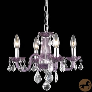 Christopher Knight Home Crystal Lattice Lavender 4-light Chandelier