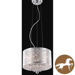 Christopher Knight Home Chrome Classic Three-Light Crystal Drop Chandelier