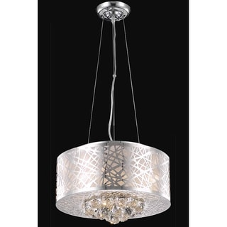 Christopher Knight Home Chrome Four-Light Crystal Drop Hanging Chandelier