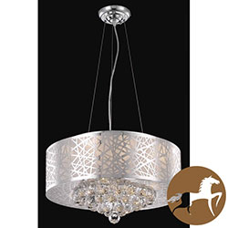 Christopher Knight Home Chrome 7-light Crystal Drop Chandelier